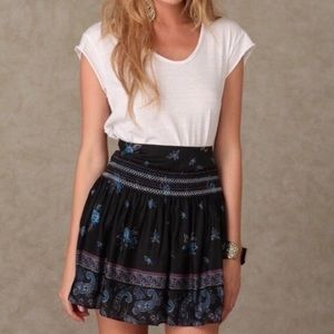 Free People Paisley Floral Skirt